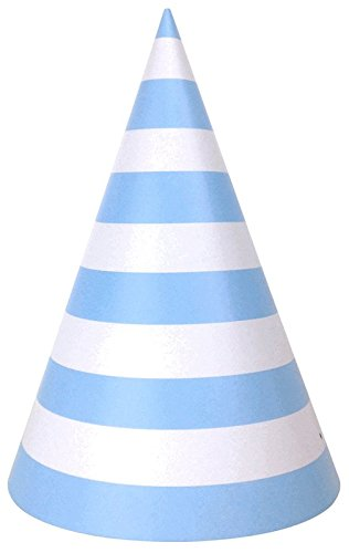 Just Artifacts Childrens Party Cone Hats 12pcs Striped Baby -