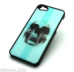 BLACK Snap On Case iPhone 5 Plastic Cover ICEBERG BLUE CROSS SKULL sugar teal