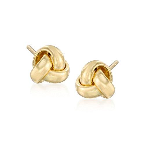 - Ross-Simons 14kt Yellow Gold Knot Stud Earrings