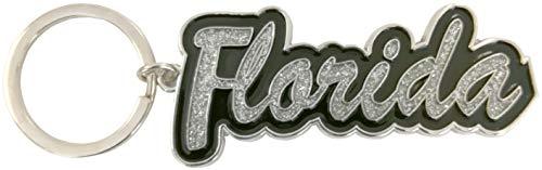Florida Name Glitter Filled Metal Key Ring ()