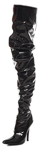 Forcella o rosso nero knee Gr nero 36 High over Heels 46 wqAwrBX