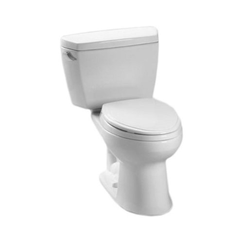 Toto CST744SDBNo.01 Drake Toilet, 1.6-GPF with Insulated Tank and Bolt Down Lid Cotton by TOTO