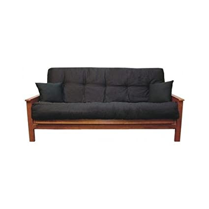 Beau Futon Cushion Black For Futons Or Sleeper Sofas Queen Size Six Inches Very  Soft And Amazingly