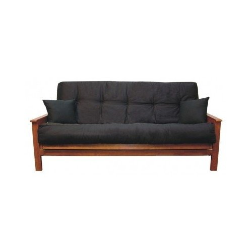Futon Cushion Black for Futons or Sleeper Sofas Queen Size Six Inches Very Soft and Amazingly Comfortable.sale. Sleep in Comfort with This Luxury Queen Sized Futon Furniture Piece. Very Adjustalbe When Folding Into a Comfortable Sofa. Cotton and Till.