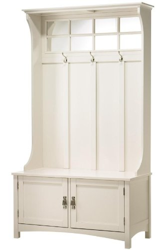 Ambrose Hall Tree, 70H x 40W x 18D, POLAR WHITE by Home Decorators Collection