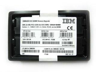 - 39M5809 IBM 2GB SDRAM DDR II 2x1GB PC2-3200 CL3 ECC RDIMM