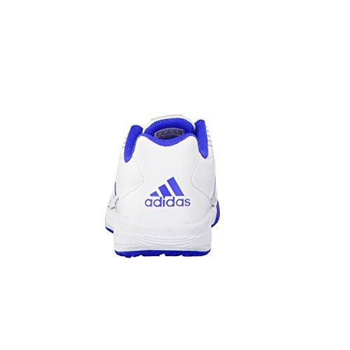 adidas Performance - Zapatillas para deportes de interior de mezcla de tejidos para niña Multicolor (Ftwr Whiteblue Grey S14)