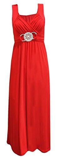nbsp; abito nuovo UK8 cocktail Fashion Size fibbia donna da Maxi lungo sera fatine Prom Plus partito Zqwgf4Sw