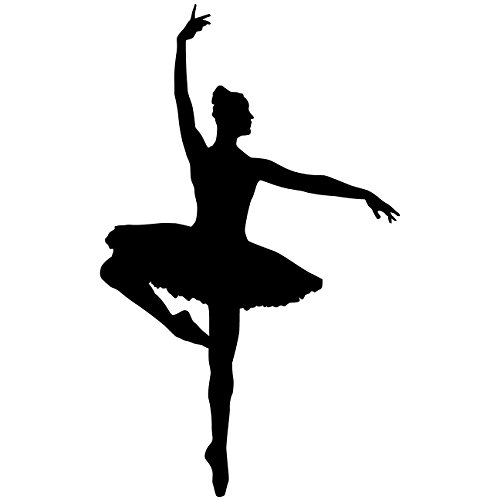 Dancer Ballerina Dance Wall Decal Sticker 3 - Decal Stickers and Mural for Kids Boys Girls Room and Bedroom. Ballet Vinyl Decor Wall Art for Home Decor and Decoration - Dancer Ballet Silhouette Mural by TheVinylGuru