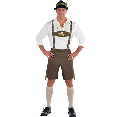 Amscan Mr. Oktoberfest Halloween Costume for Men, Extra Large, with Included -