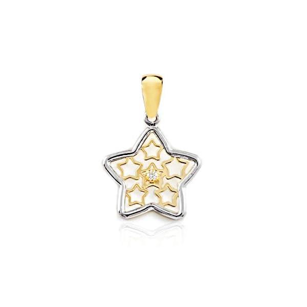 Colgante oro Bicolor Estrellas caladas y circonita (9kts) Colgante oro Bicolor Estrellas caladas y circonita (9kts) Colgante oro Bicolor Estrellas caladas y circonita (9kts)