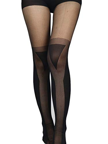 Sexy Fashion Modern Mock Thigh High Over Knee Sheer Pantyhose Stockings Tights (yield triangle sign)