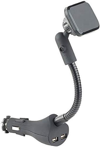 Callstel Autohalterung Flexible Kfz Magnet Halterung Mit 2 Usb Ports Für Smartphones 3 1 A
