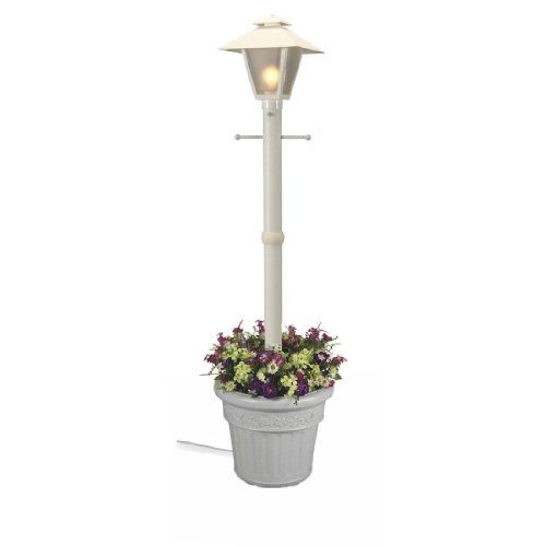 Cape Cod Single Coach Lantern Planter – White