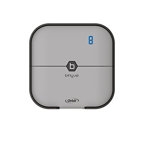 Orbit B-hyve 57925 Smart 8-Station Wi-Fi Sprinkler System Controller, 8-Zone, Gray