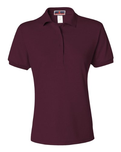 picture of Jerzees 437W Ladies 50/50 Jersey Polo with SpotShield - MAROON - S