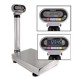 Rice-Lake-Ishida-IGB-NTEP-Bench-Scale-with-Pole-300lb150-kg-by-01-lb005-kg-Stainless-steel-cover-Checkweigher-functionNew