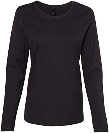 Hanes Womens Long Sleeve Scoopneck T-Shirt (S04LS)