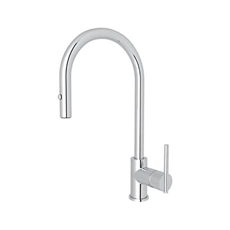 rohl cy57l 2 brass kitchen faucet with 360 swivel spout polished chrome - Rohl Kitchen Faucets