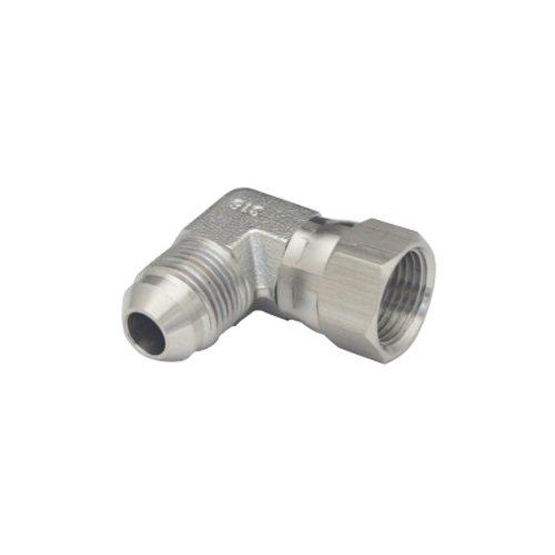 6C6MX-SS-RFS Stainless Steel JIC 37 Degree Flare 90° Swivel Elbow 3/8