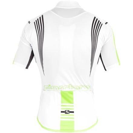 Giordana Sahara Jersey - Men's White/Green Fluo/Black, L