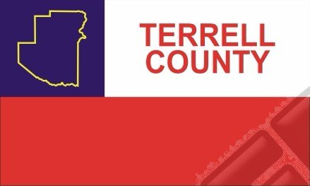 Terrell County Texas Computer Tablet Decal Sticker 3x5 - Terrell Texas