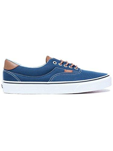 Vans Mens Era 59 (C&L) Skateboarding Sneakers VN0A38FSQ (11 Women/9.5 Men M US, Dress Blues/Acid Denim)