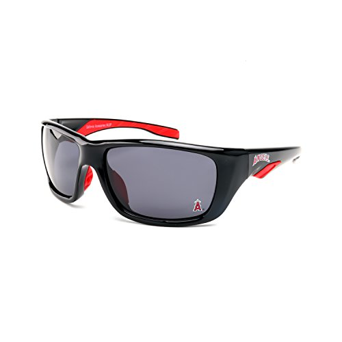 CA Accessories MLB Los Angeles Angels Short Stop Sunglasses, Black