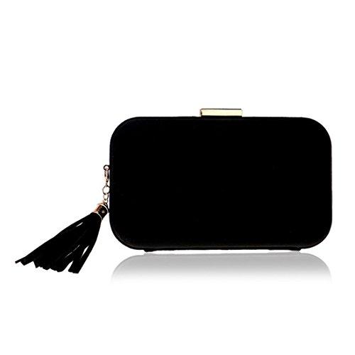 Shoulder Crossbody Bag JESSIEKERVIN Handbag Purses Clutch Bag Evening Women Black 1AXqw0A