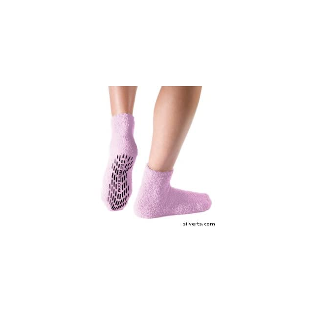 Non Skid / Slip Grip Socks For Women / Men   Hospital Socks Size One Color Pink