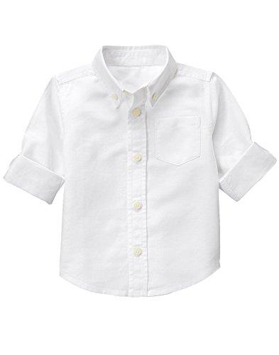 Gymboree Baby Toddler Boys' Linen Woven Shirt, White, 5T (Kids Dress Shirt 5t)
