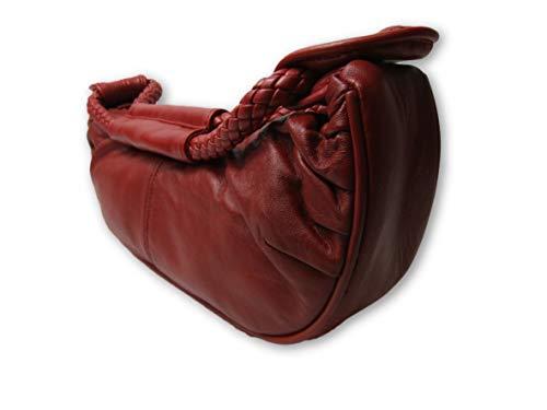 hombro Unknown de para M Piel Red Bolso al mujer qwSCxwEPz