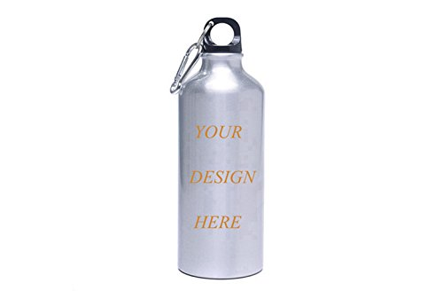 Create Custom Insulated Stainless Steel Water Bottle Canteen - 18oz Capacity Double Walled Vacuum Insulated Stainless Steel Thermos
