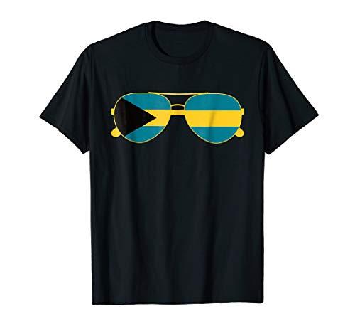 Bahamian Flag Bahamas Sunglasses T-Shirt Bahamas Flag Tee