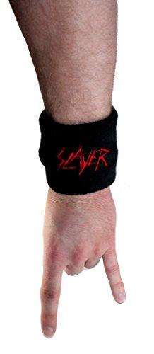 """Slayer"" Blood Name Band Logo Wristband Sweatband Thrash Metal Music Merchandise"