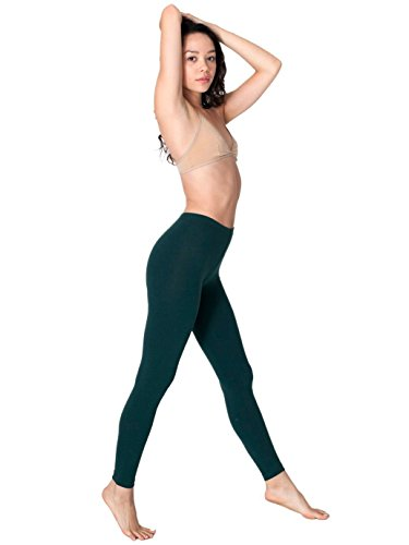American Apparel Women's Cotton-Spandex Jersey Legging, Forest, Large