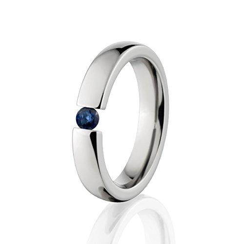 Sapphire Ring Titanium Tension Set Jewelry Stunning Sapphire Band