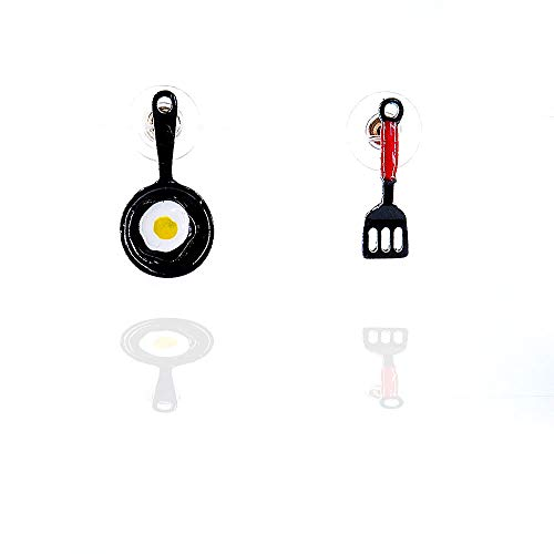 DIDA Fun Stud Kitchen Tools Earrings Omelette Earrings Lovely Earrings for Girls and Women
