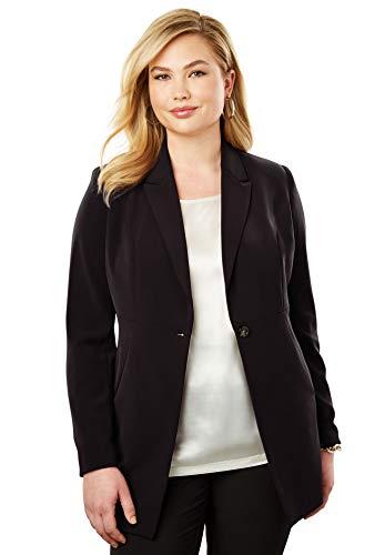 Jessica Petite Coat - Jessica London Women's Plus Size Petite Bi-Stretch Blazer - Black, 20 W