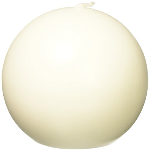 Zest Candle 6-Piece Ball Candles, 3-Inch, Pale Ivory