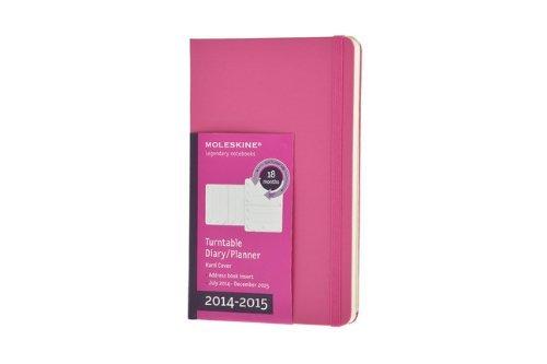 Moleskine 2014-2015 Turntable Weekly Planner, 18M, Large, Magenta, Hard Cover (5 x 8.25) (Moleskine Diaries) by Moleskine (2014-03-26) (Turntable Moleskine 2015 Planner)