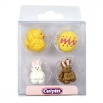 Rabbit and Chick Cake Decorations