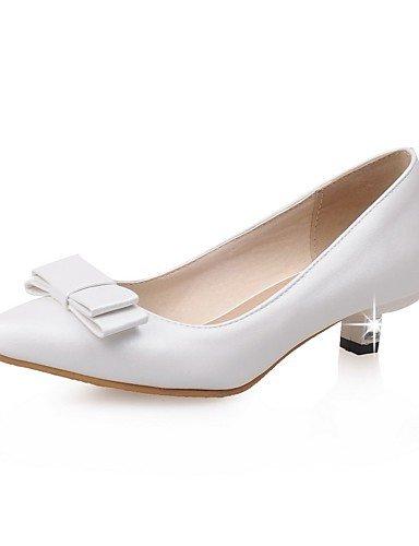 GGX/ Damen-High Heels-Büro / Lässig-Lackleder-Niedriger Absatz-Komfort / Spitzschuh-Rosa / Weiß / Mandelfarben almond-us10.5 / eu42 / uk8.5 / cn43