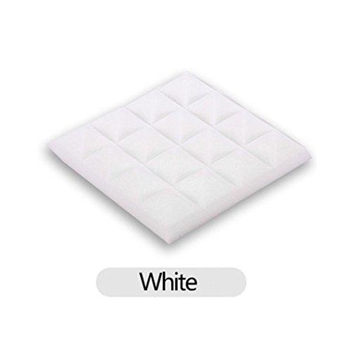 LtrottedJ Acoustic Foam Panel Sound Stop Absorption Sponge Studio KTV Soundproof (White)