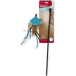 Petlinks Loopy Swooper Cat Toy Extra-Bouncy Feather Wand