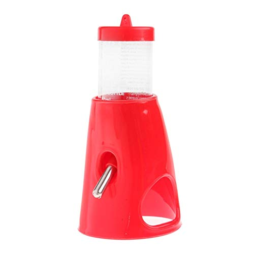 Majinz Store Water Feeder New Hamster Cute Water Bottle Holder Dispenser Base Hut Small Nest 2 in 1