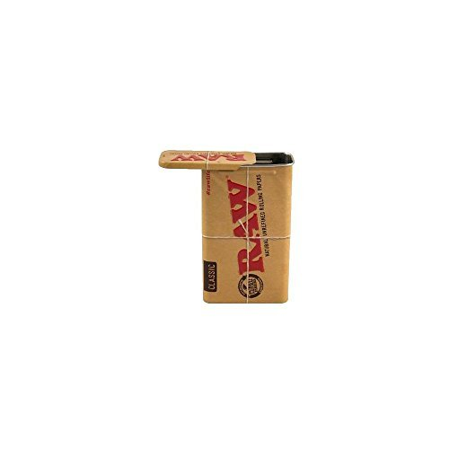 RAW-CIGARETTE-BOX-AUTHENTIC-RAW-TOBACCO-BOX-ALL-METAL-WITH-SLIDING-LID