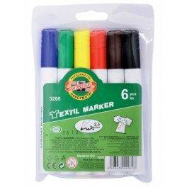 Textilmalstifte, Textilmarker 6er Set, Stoffmalstifte 2,5 mm