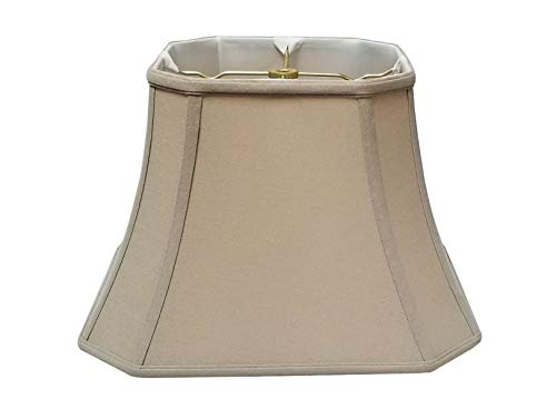 Royal Designs Square Cut Corner Bell Lamp Shade, Linen Beige, 9 x 16 x 13