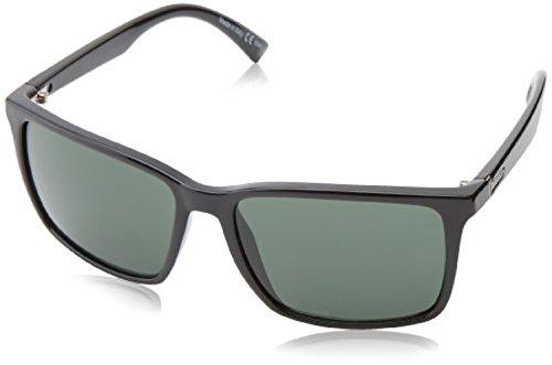 (Von Zipper Lesmore Sunglasses Black Gloss/Wild Vintage Grey Pol & Carekit)